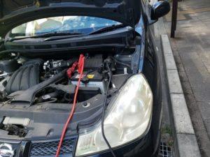 バッテリー上がり救援