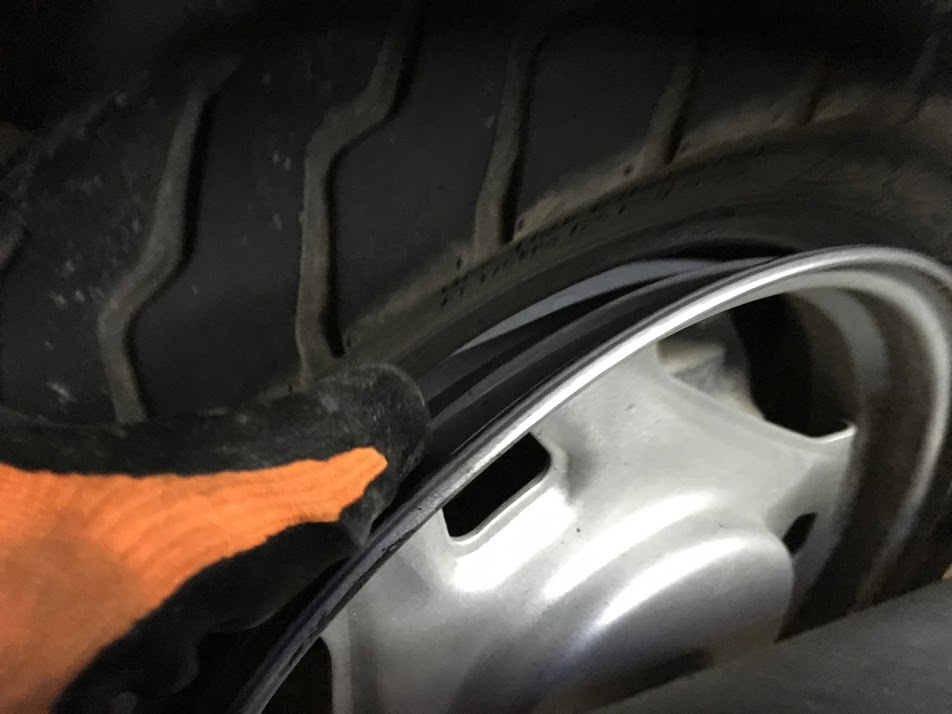 タイヤとホイールの分離