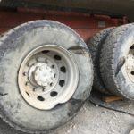 大型ダンプの出張タイヤ交換