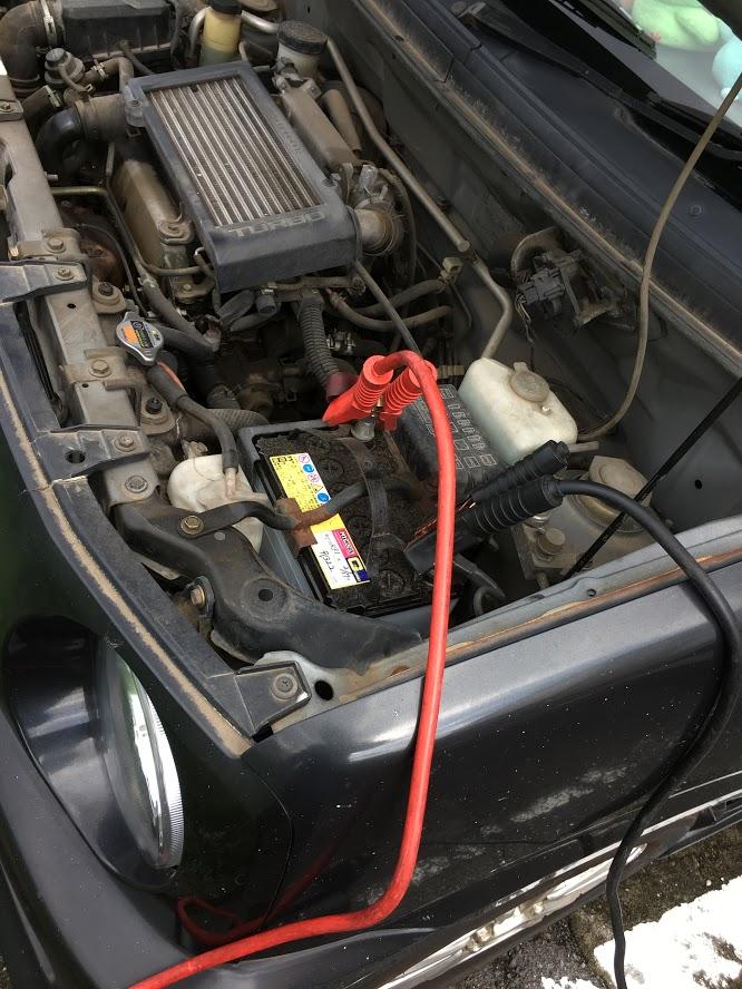 ムーブのバッテリー上がり救援