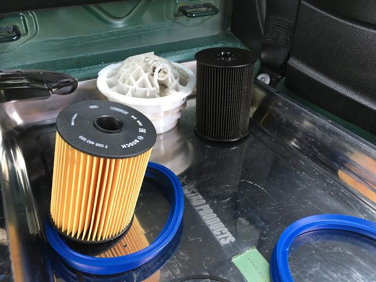 R55クーパーSの燃料フィルター